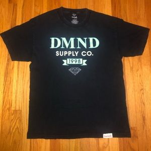 Diamond Supply Co. Black and Teal T-Shirt